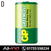 *BAT1 GP BATTERIES EX/HVY DUTY 1.5V D (13G) [QTY=10]