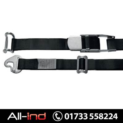 INTERNAL LOAD STRAP 700KG 4.5M BLACK SNAP HOOK