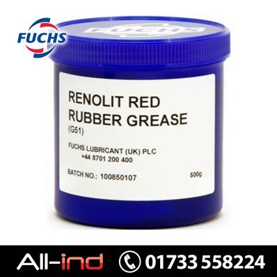 *VC188 RENOLIT G51 RED RUBBER GREASE 500G TUB