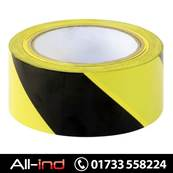 HAZARD WARNING TAPE 50MM X 33M-BLK/YLW