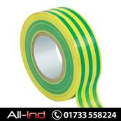 PVC INSULATION TAPE 19MM GRN/YELLW 20M [QTY=10]