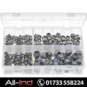NYLON LOCK NUTS A2 STAINLESS STEEL