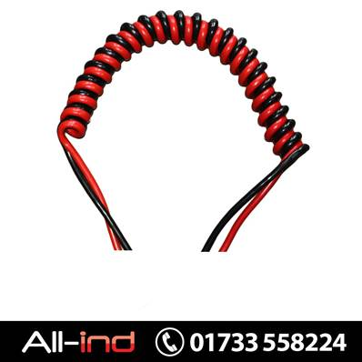 [3.0MTR WL] COILED CABLE BLACK/RED 35MM