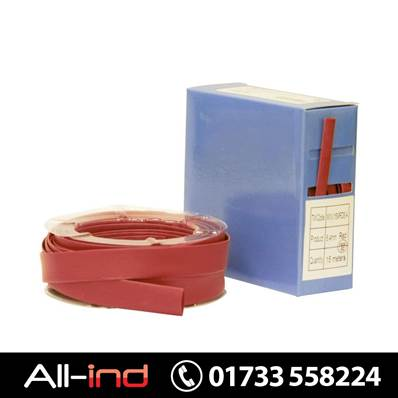 HEAT SHRINK TUBING - RED - 4.8MM X 25MTR
