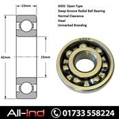 *6302 OPEN TYPE BALL BEARING