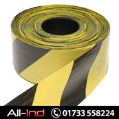 BARRIER TAPE 70MM X 500M - BLACK/YELLOW