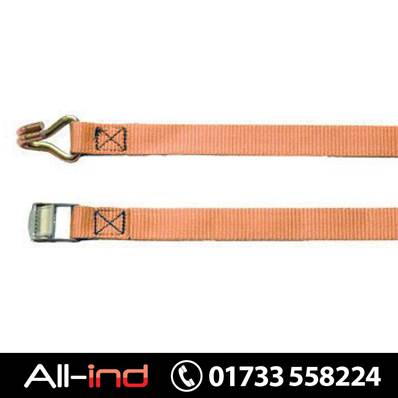 CAM BUCKLE STRAP 250KG 5.0M ORANGE CLAW HOOK