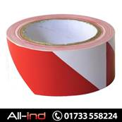 HAZARD WARNING TAPE50MM X 33M-RED/WHT