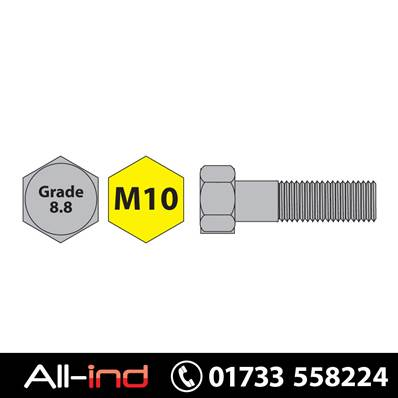 [25] M10X160MM BOLT HT GD 8.8 BZP DIN931