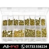 MACHINE SCREWS & NUTS BRASS ROUND SLOT BA